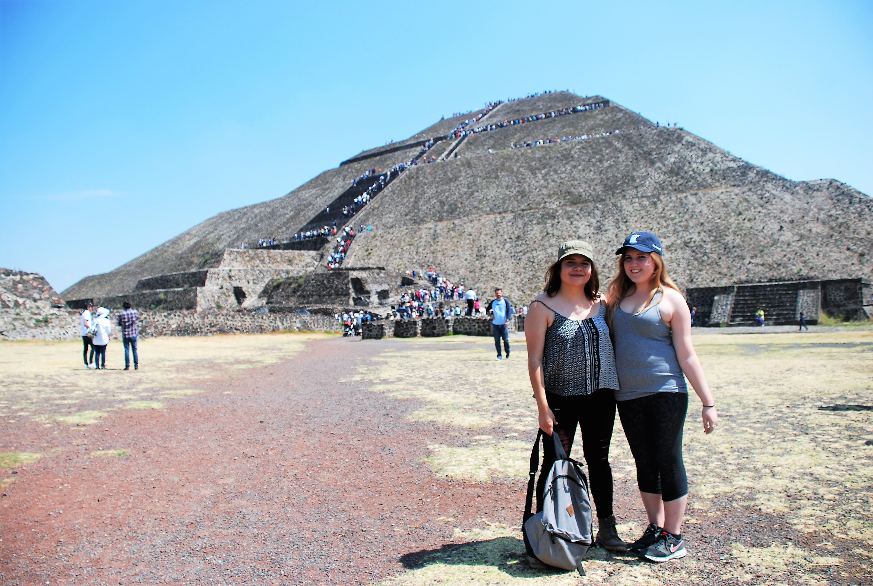 The student and her host sister in Teotihuacan