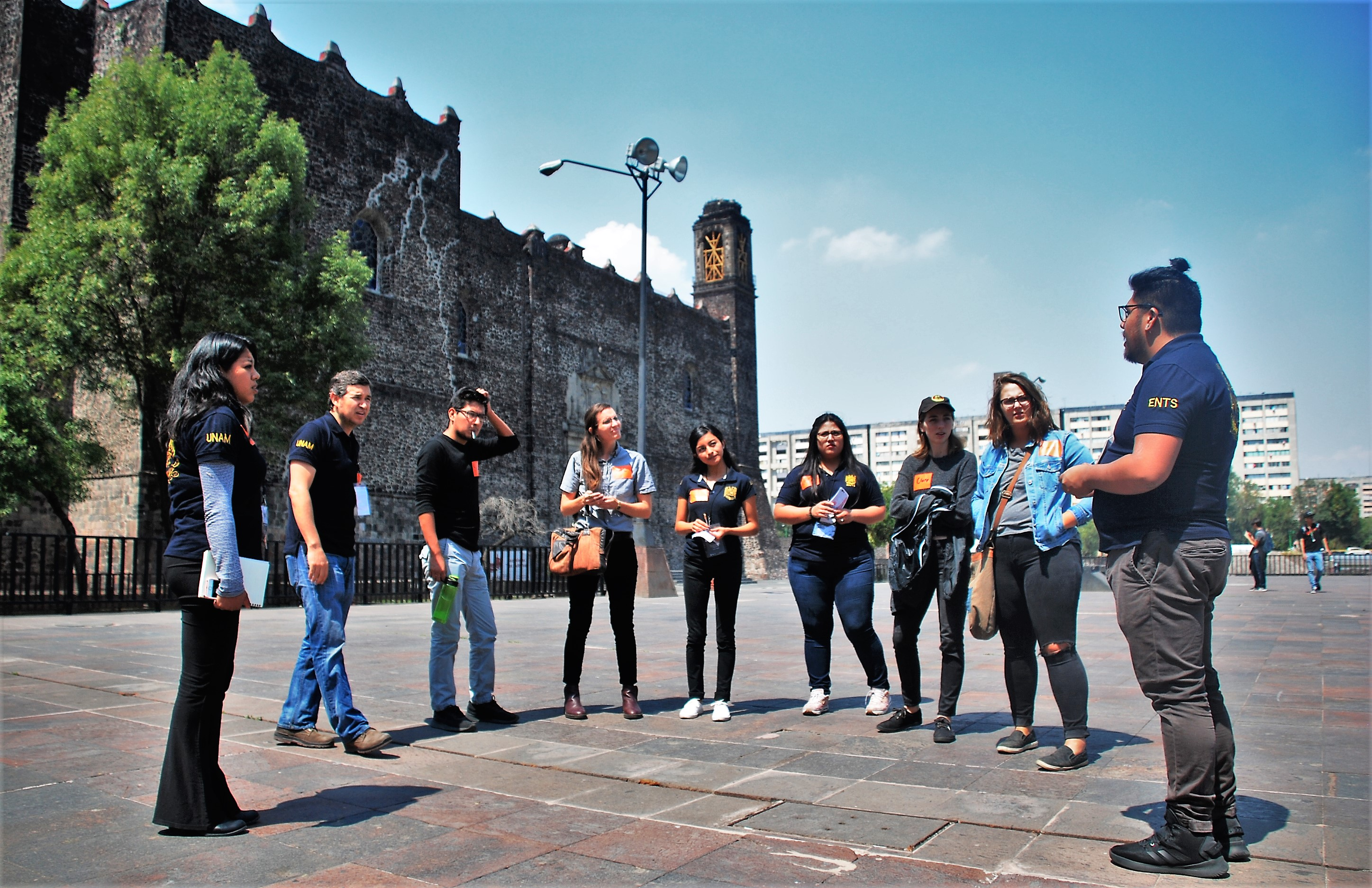 Social work students in Tlatelolco