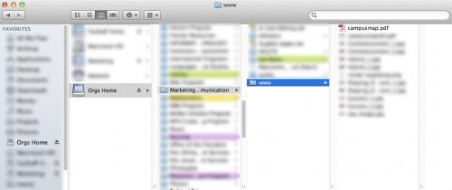 orgs web folder