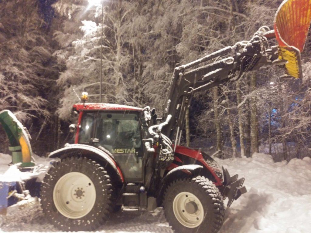 huge snow tractor.